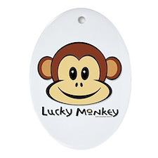 Lucky Monkey Oval Ornament