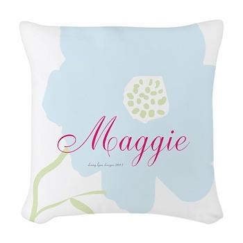 Maggie Name Woven Throw Pillow
