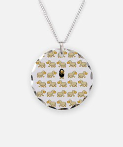 A Sheep with Attitude Necklace