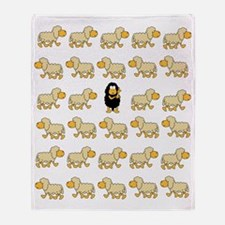 A Sheep with Attitude Throw Blanket