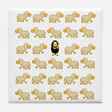 A Sheep with Attitude Tile Coaster
