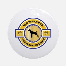 Weimaraner Walker Ornament (Round)
