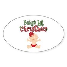 1st Christmas Baby Girl Decal