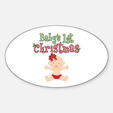 1st Christmas Baby Girl Decal