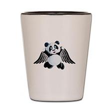 little panda angel  Shot Glass