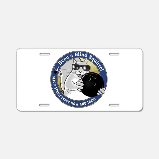 Bowling Blind Squirrel Aluminum License Plate