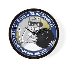Bowling Blind Squirrel Wall Clock