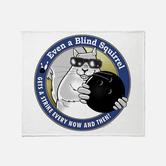 Bowling Blind Squirrel Throw Blanket