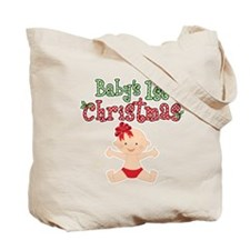 1st Christmas Baby Girl Tote Bag