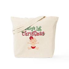 1st Christmas Baby Girl Tote Bag