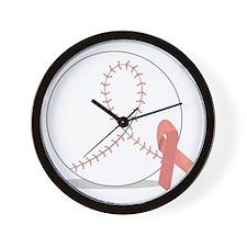 Baseball for Breast Cancer Wall Clock
