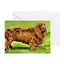 Sussex Spaniel Dog Portrait Greeting Cards