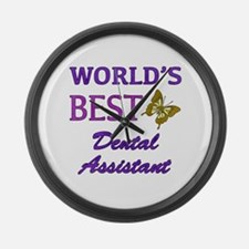 Worlds Best Dental Assistant (Butterfly) Large Wal