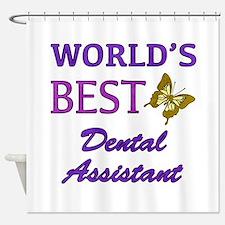 Worlds Best Dental Assistant (Butterfly) Shower Cu