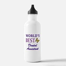 Worlds Best Dental Assistant (Butterfly) Water Bottle