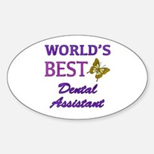 Worlds Best Dental Assistant (Butterfly) Decal