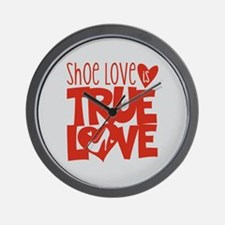Shoe Love is True Love Wall Clock