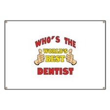 Thumbs Up Worlds Best Dentist Banner