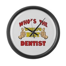 Thumbs Up Worlds Best Dentist Large Wall Clock