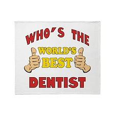 Thumbs Up Worlds Best Dentist Throw Blanket