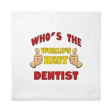 Thumbs Up Worlds Best Dentist Queen Duvet