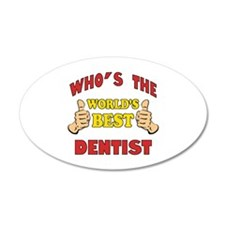 Thumbs Up Worlds Best Dentist Wall Decal