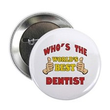 "Thumbs Up Worlds Best Dentist 2.25"" Button"