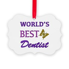 Worlds Best Dentist (Butterfly) Ornament