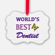 Worlds Best Dentist (Butterfly) Ornament
