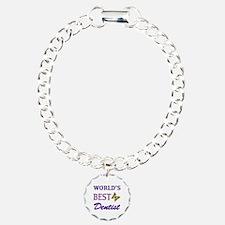 Worlds Best Dentist (Butterfly) Charm Bracelet, On