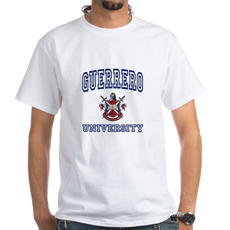GUERRERO University White T-Shirt