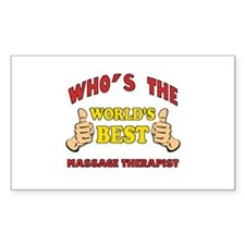 Thumbs Up Worlds Best Massage Therapist Decal