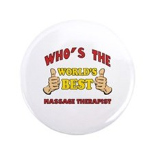 """Thumbs Up Worlds Best Massage Therapist 3.5"""" Butto"""