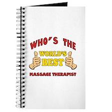 Thumbs Up Worlds Best Massage Therapist Journal