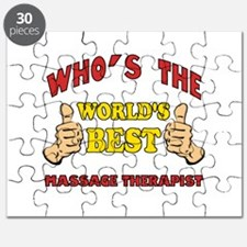 Thumbs Up Worlds Best Massage Therapist Puzzle