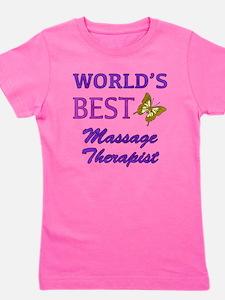 Worlds Best Massage Therapist (Butterfly) Girl's T