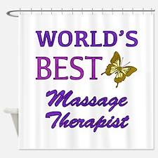Worlds Best Massage Therapist (Butterfly) Shower C
