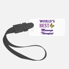 Worlds Best Massage Therapist (Butterfly) Luggage Tag
