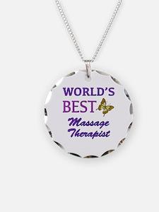 Worlds Best Massage Therapist (Butterfly) Necklace