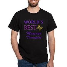 Worlds Best Massage Therapist (Butterfly) T-Shirt