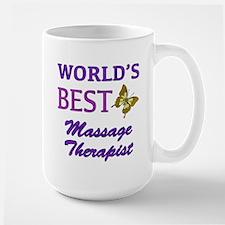 Worlds Best Massage Therapist (Butterfly) Large Mu