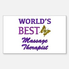 Worlds Best Massage Therapist (Butterfly) Decal