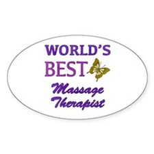 Worlds Best Massage Therapist (Butterfly) Decal