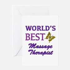 Worlds Best Massage Therapist (Butterfly) Greeting