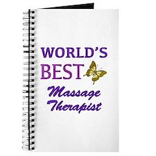 Worlds Best Massage Therapist (Butterfly) Journal