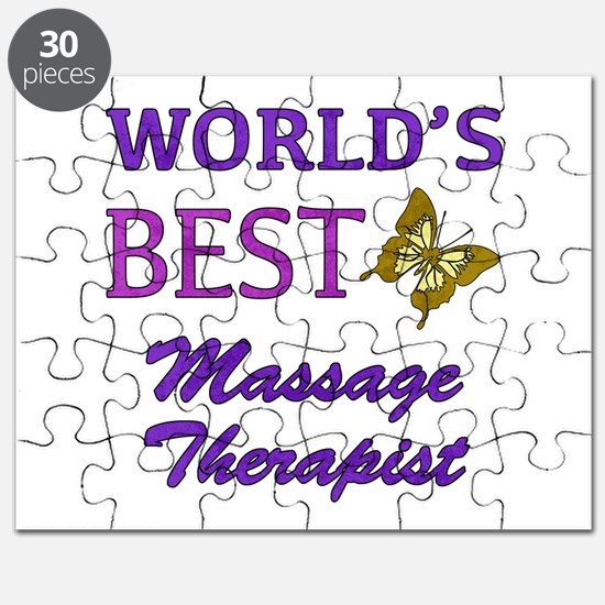 Worlds Best Massage Therapist (Butterfly) Puzzle