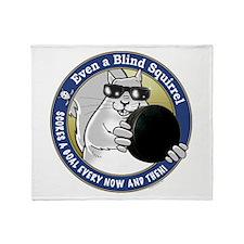 Hockey Blind Squirrel Throw Blanket