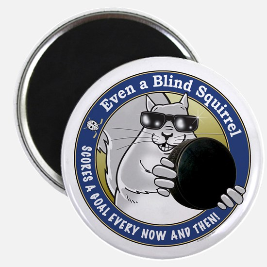 Hockey Blind Squirrel Magnet