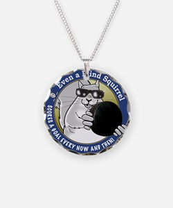 Hockey Blind Squirrel Necklace Circle Charm