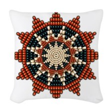 Native American Sunburst Roset Woven Throw Pillow